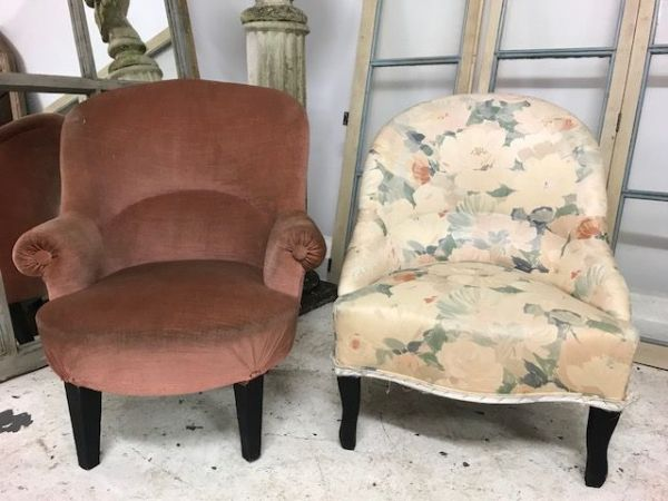 SOLD - Vintage French Armchairs - £85 each